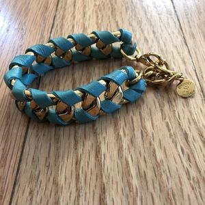 Skinny by Jessica Elliot blue & gold bracelet